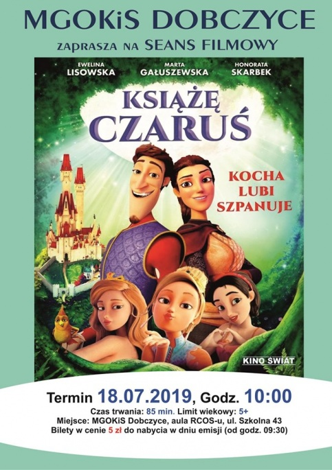 plakat - Seans filmowy - Książe Czaruś - kocha, lubi, szpanuje