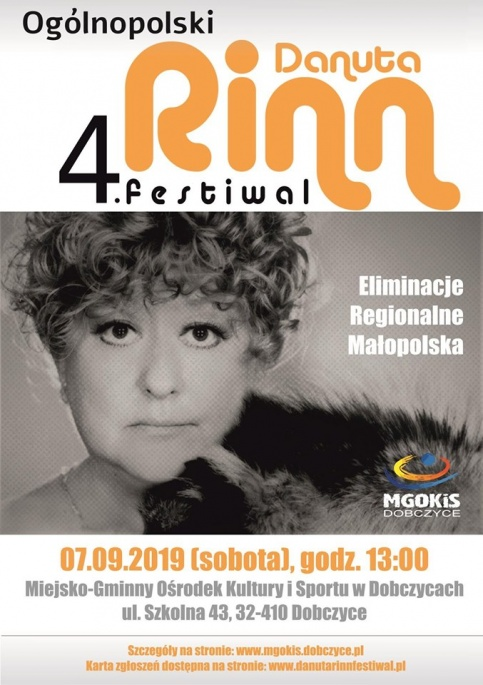 plakat - Danuta Rinn festiwal