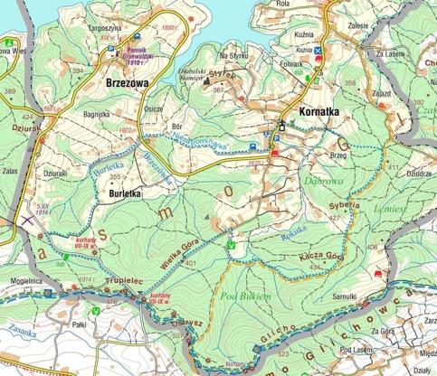 Ścieżka spacerowa Niezapominajka w Kornatce