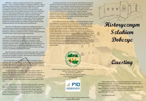 """Quest """"Historycznym Szlakiem Dobczyc"""" strona 1"""