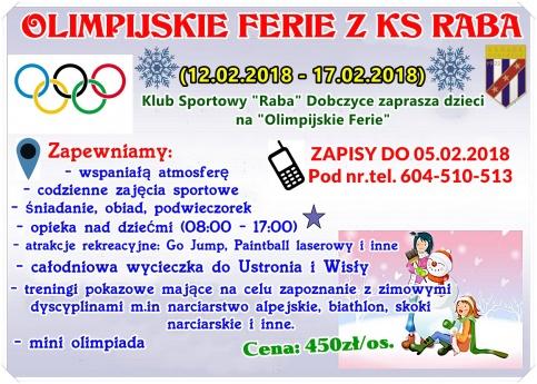 Olimpijskie Fereie z KS Raba