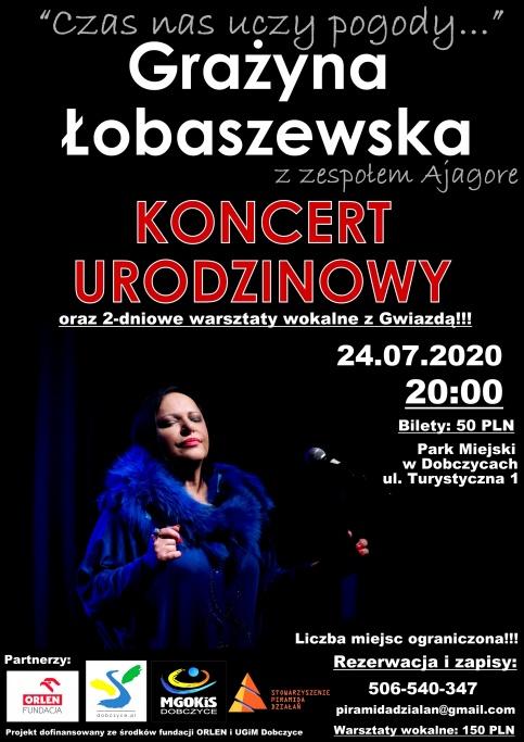 Plenerowy koncert Grażyny Łobaszewskiej