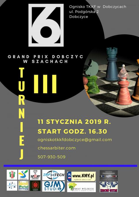 plakat - III Grand Prix w szachach