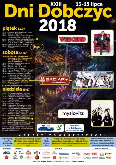 plakat - Dni Dobczyc 2018
