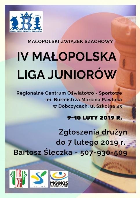 plakat - IV Małopolska Liga Juniorów