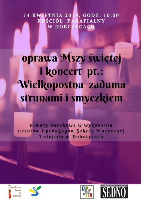 plakat - oprawa muzyczna w Dobczycach