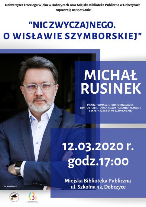 plakat - Nic zwyczajnego, o Wisławie Szymborskiej