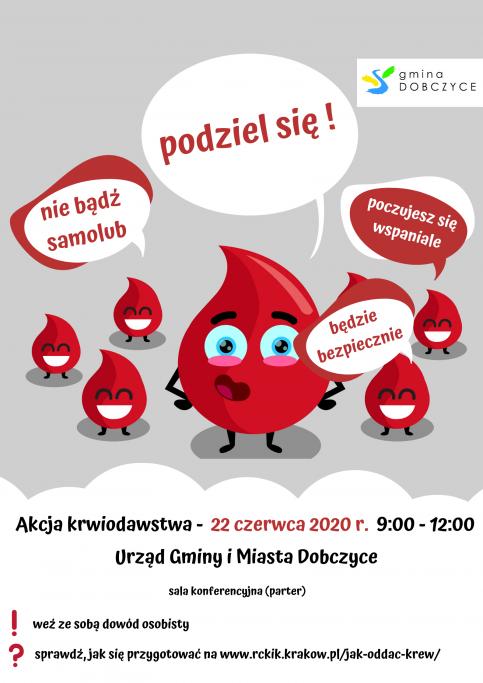 plakat - akcja krwiodawstwa