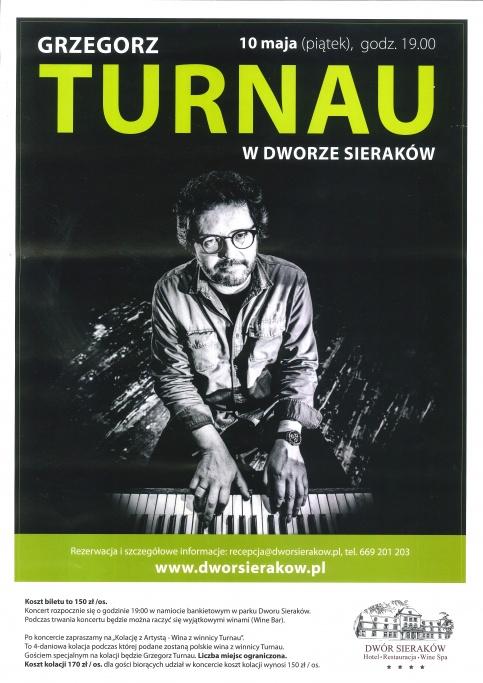 plakat - koncert Grzegorza Turnaua