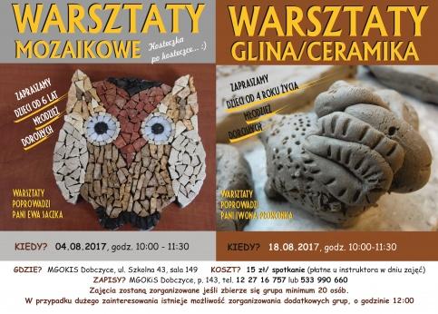 plakat - warsztaty z gliny i ceramiki