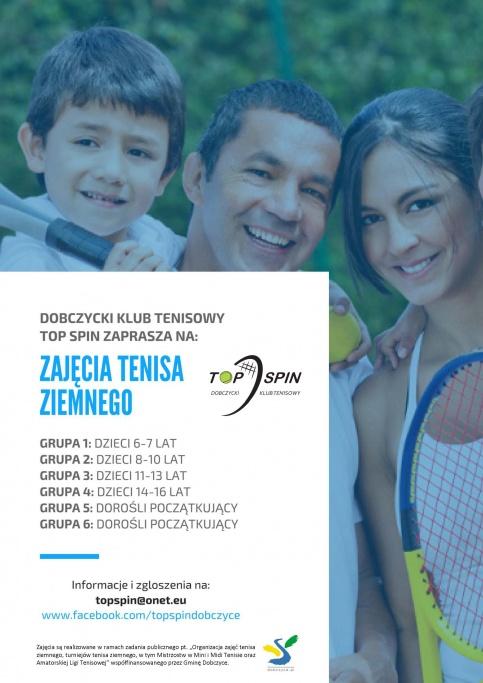 plakat - nabór na zajęcia tenisa ziemnego