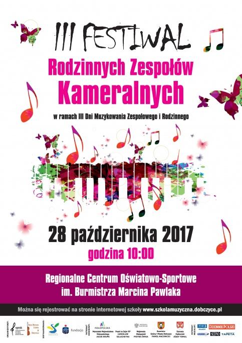 plakat - III Festiwal Rodzinnych Zespołów Kameralnych 2017