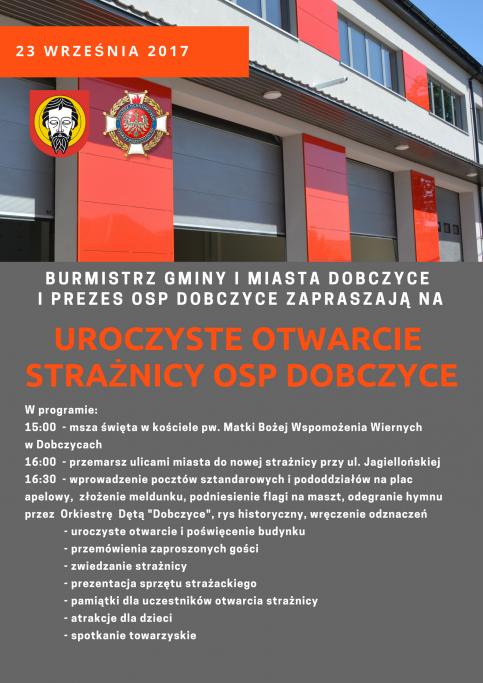 Otwarcie strażnicy OSP w Dobczycach