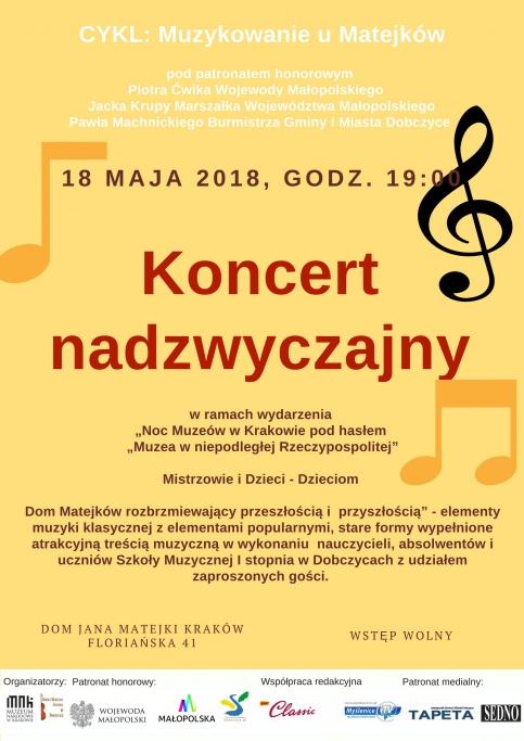 plakat - koncert nadzwyczajny