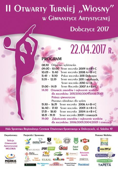 plakat - turniej gimnastyki artystycznej