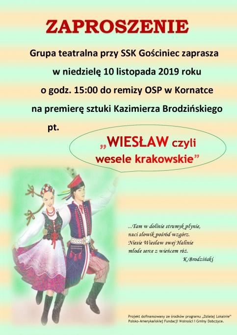 plakat - Wiesław, czyli wesele krakowskie