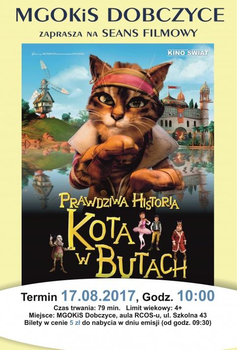 plakat - Prawdziwa historia kota w butach
