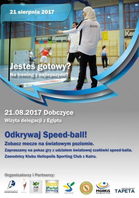 Plakat - speed ball - trening z mistrzami