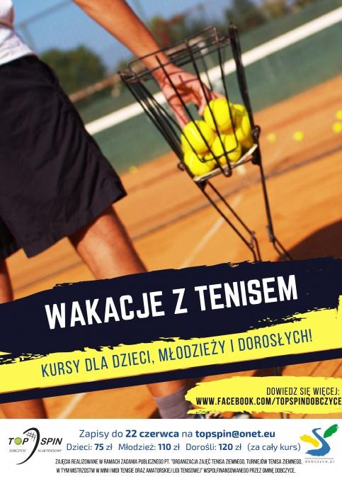 Wakacje z tenisem 2018 - plakat