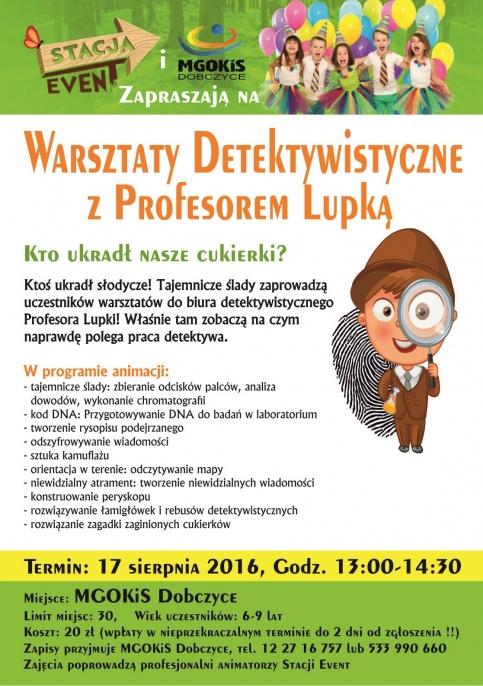 Warsztaty detektywistyczne z Profesorem Lupką